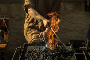 blacksmithing and forging metal parts
