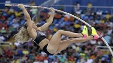 Kelsie Ahbe performing at the olympics
