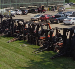Canton Drop Forge Lift Trucks During Maintenance Week